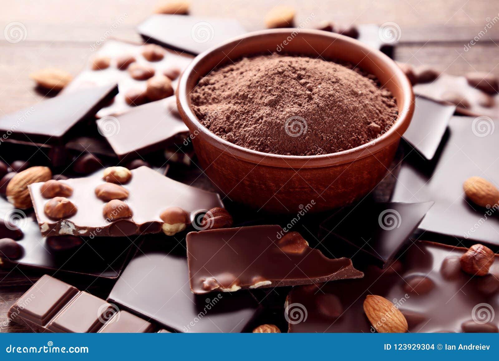 Choklad med kakaopulver