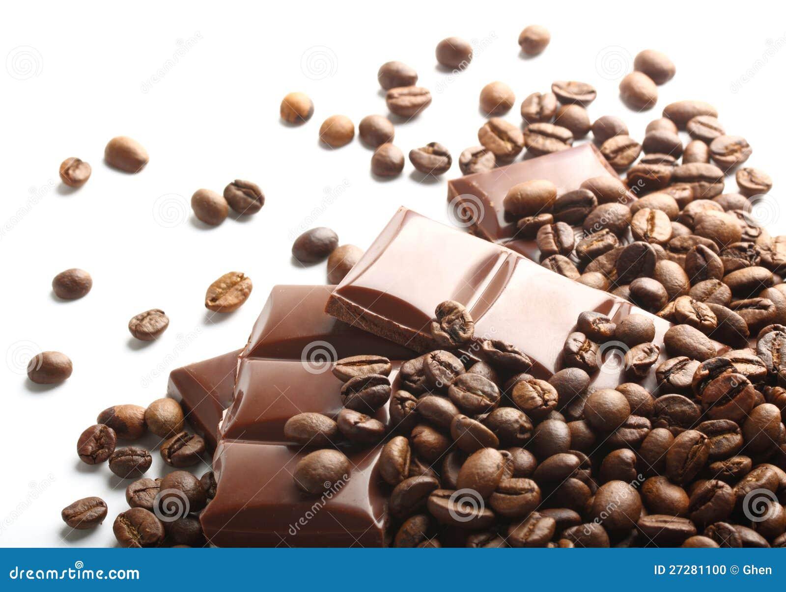 Choklad- och kaffebönor