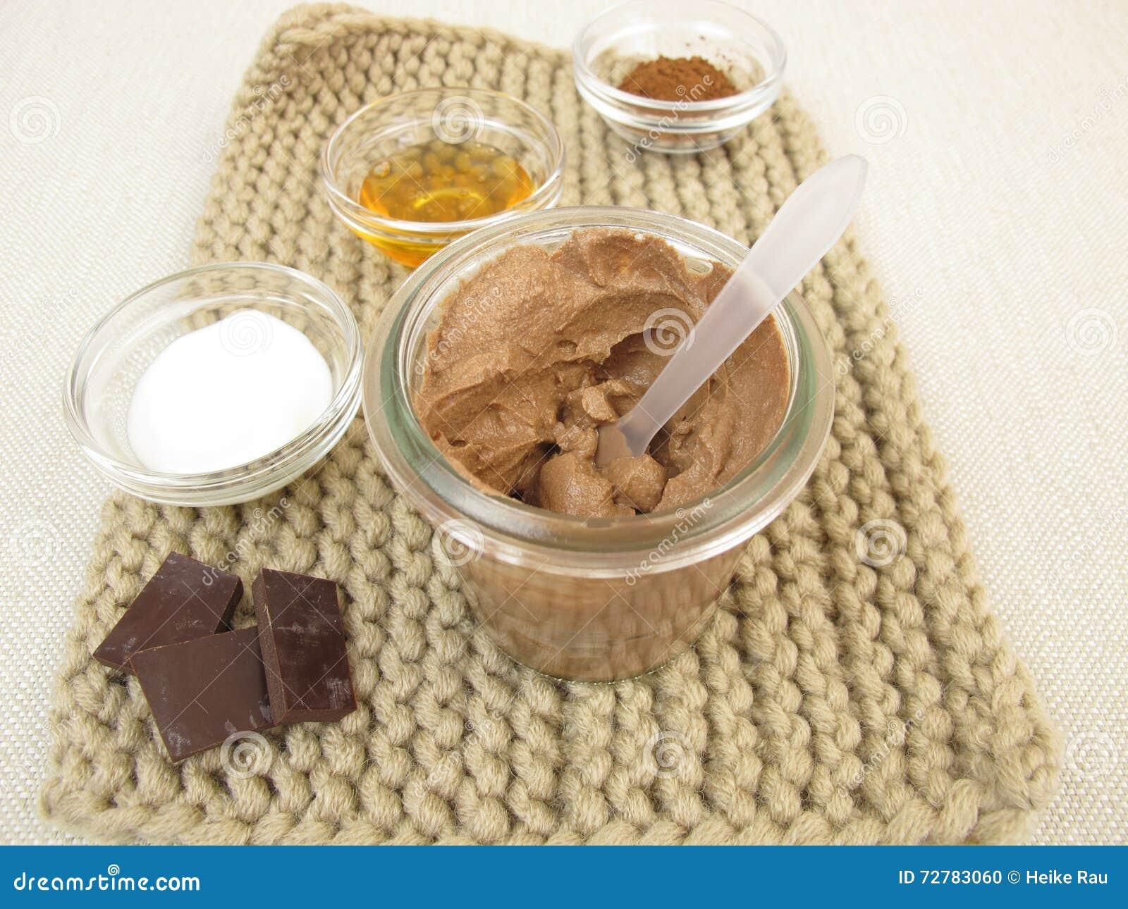 Chokladmaskering med yoghurt och honung