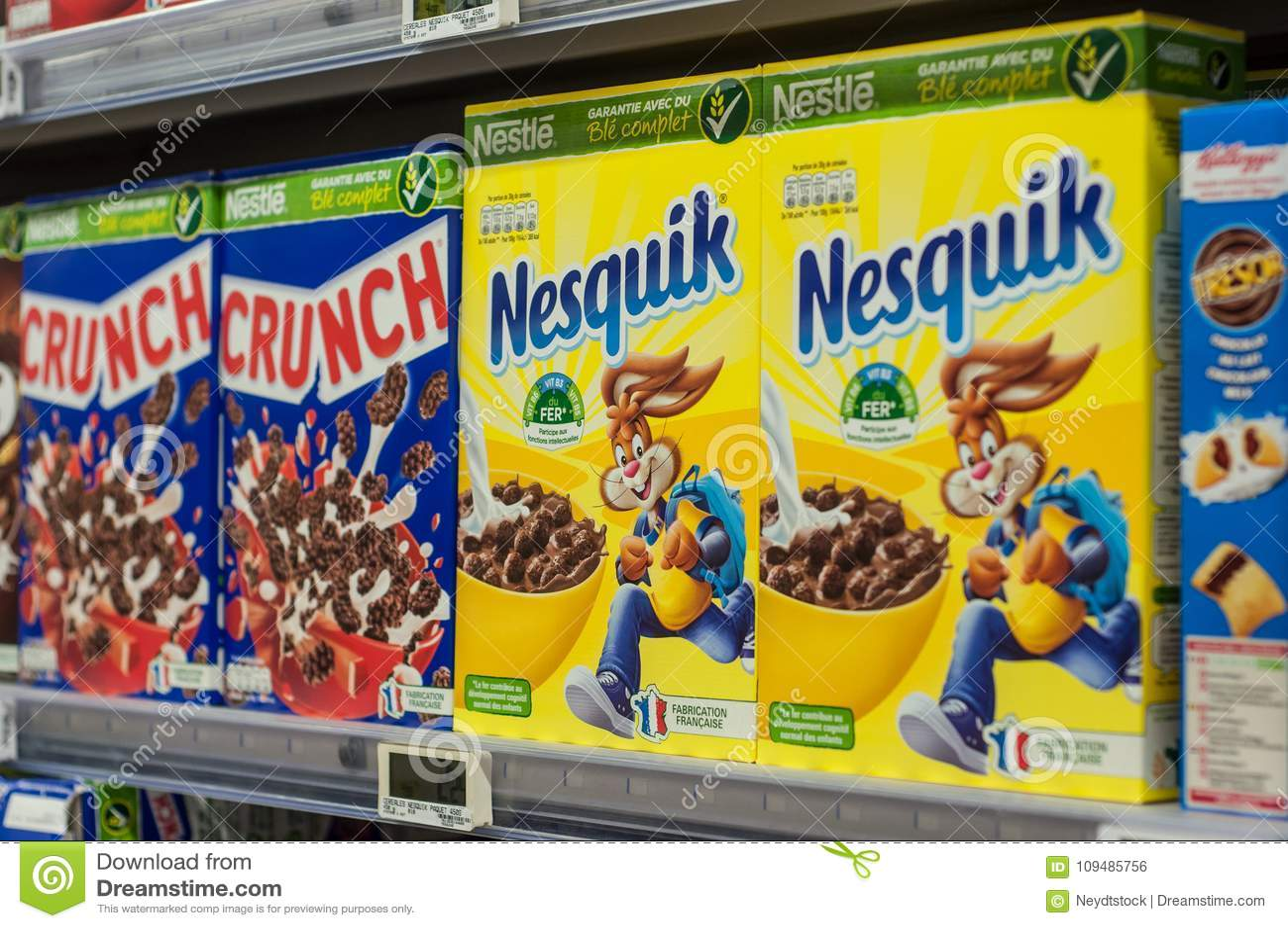 Chokladsädesslag från kura ihop sig märke på den toppna U-supermarket