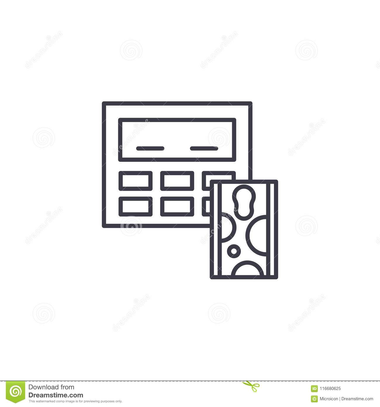 Cholesterol Test Linear Icon Concept Cholesterol Test Line Vector