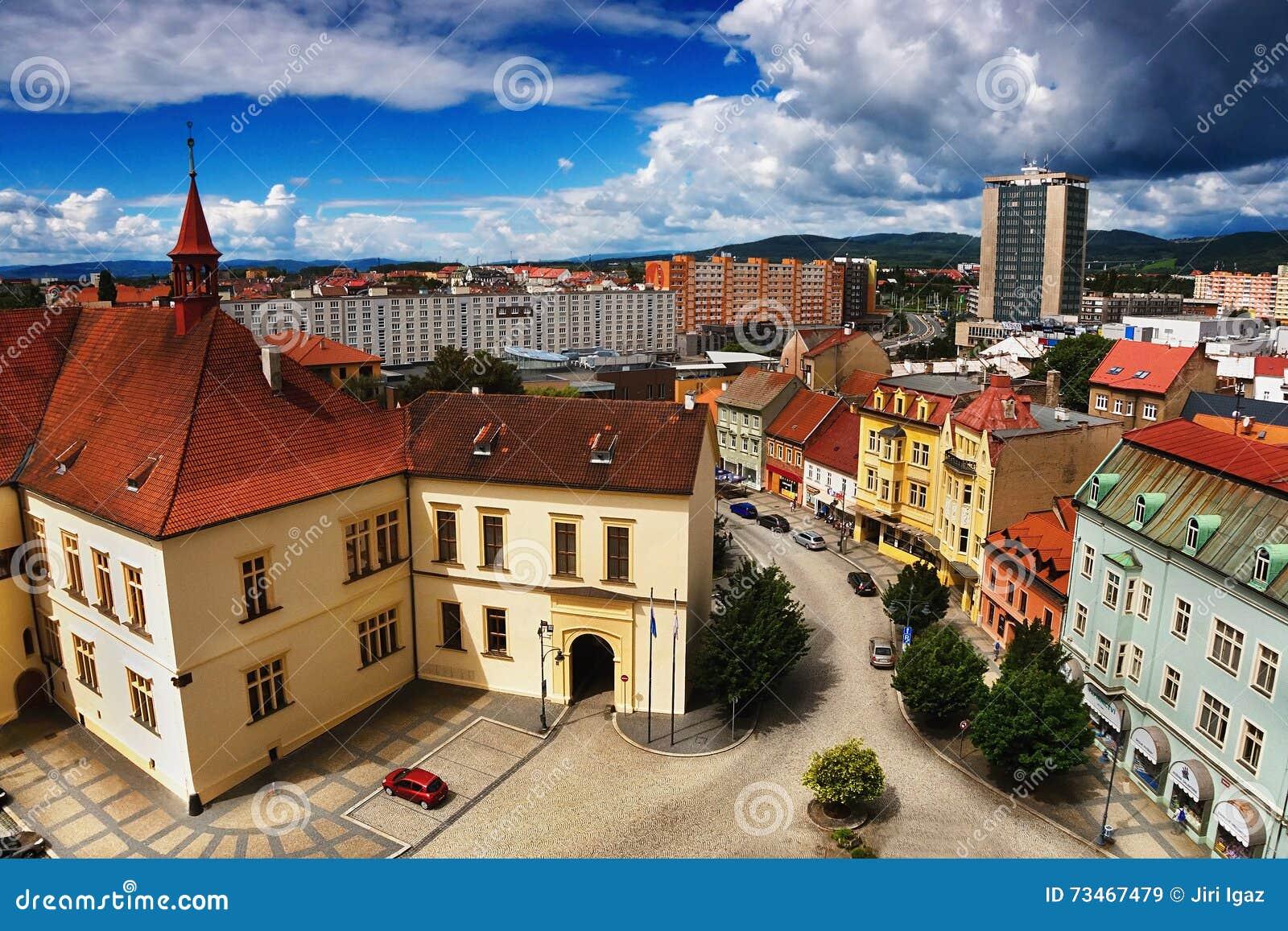 2016-06-18 Chomutov city, Czech republic -  Zamek Chomutov  Lock on the left