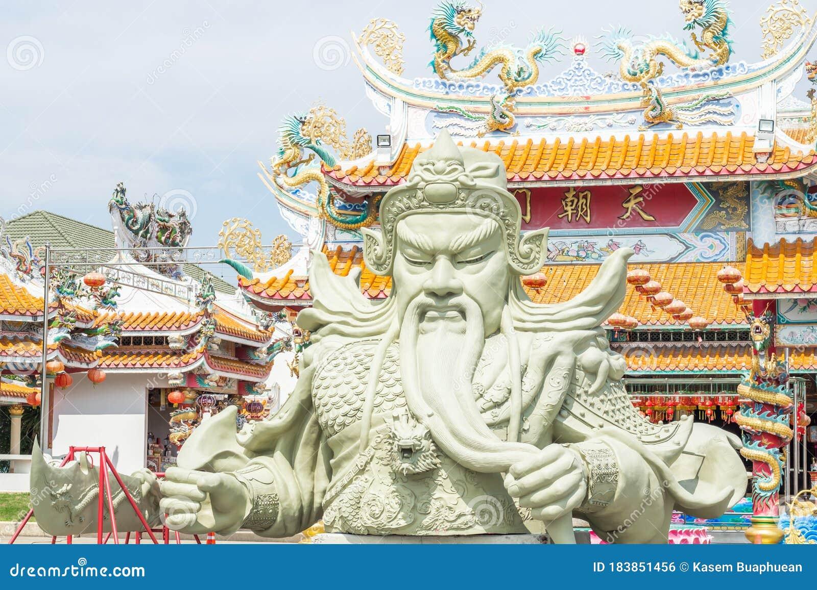 CHONBURI, TH - 5 April 2020 : Giant Guan Yu Statue, Kwnao ...