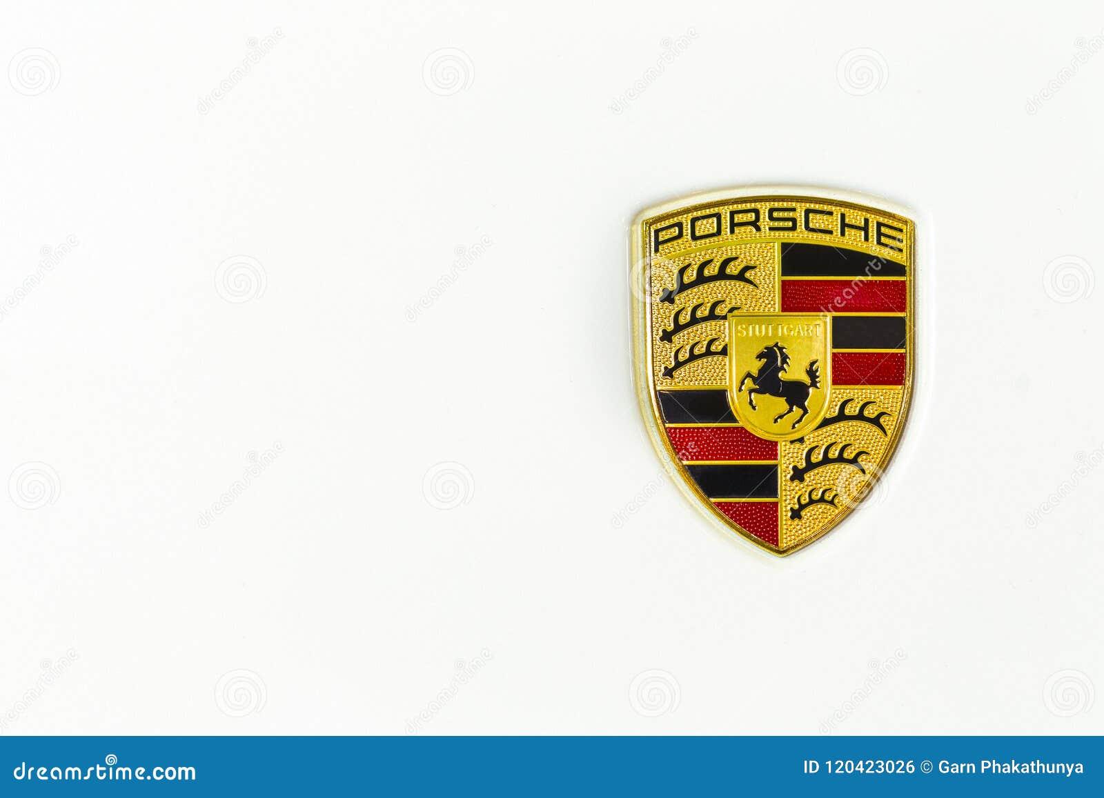 Chonburi Thailand August 26 2017 Porsche Car Logo Ferdinand