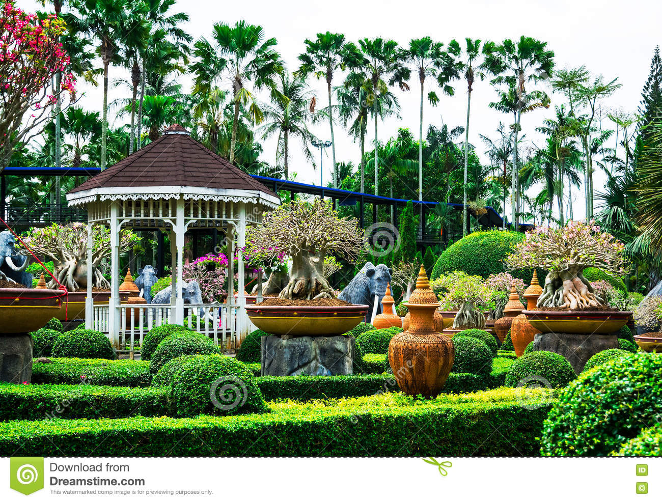 chonburi, thailand - march 18, 2016: beautiful garden decoration