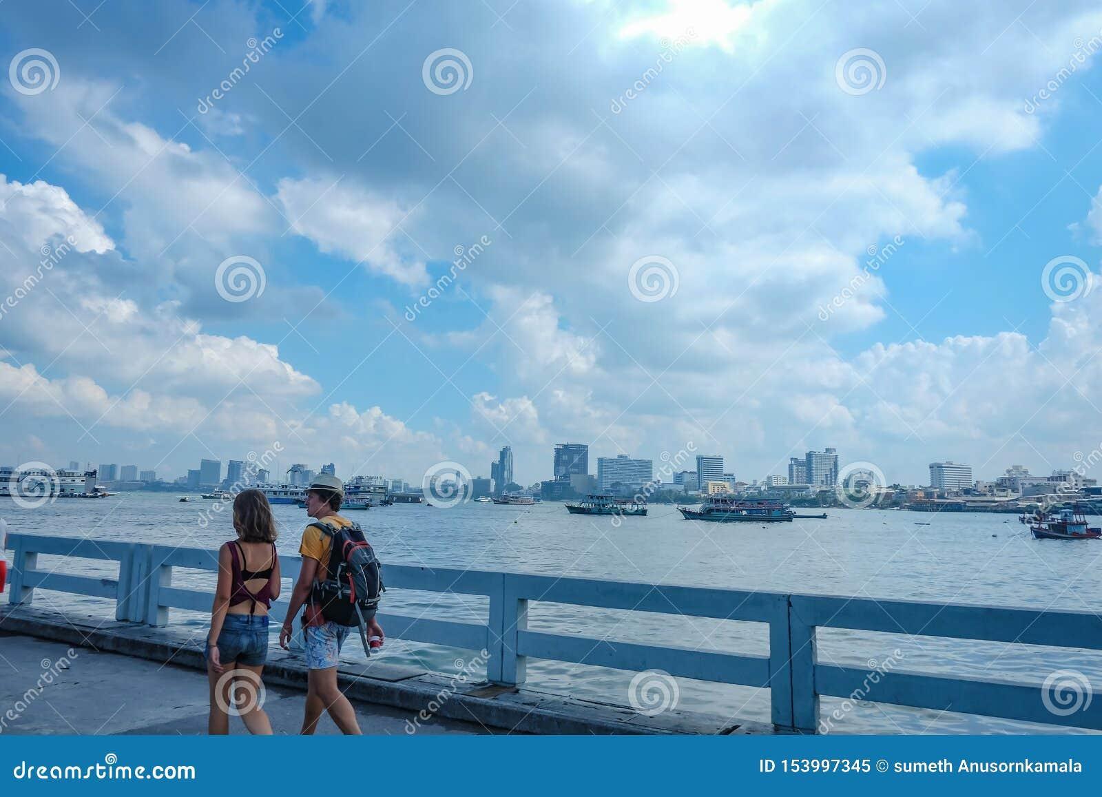 Where Is Bali Hai Island unacquainted chinese people and tourist walking on bali hai