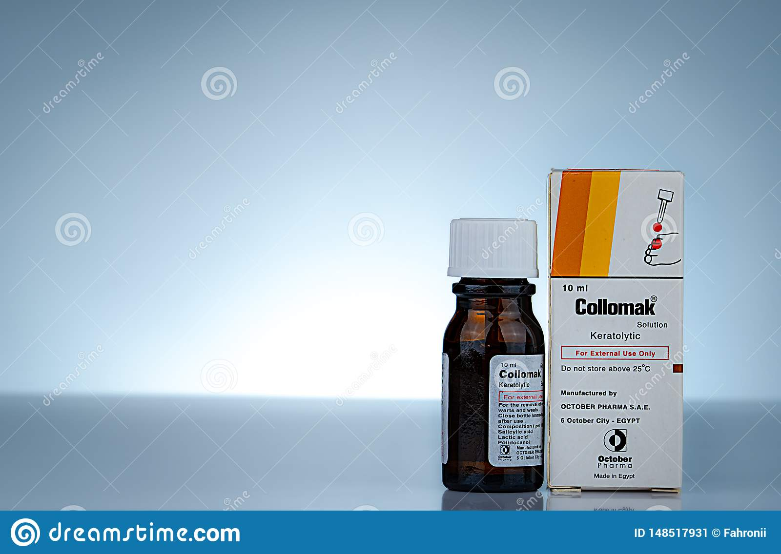 Collomak Solution Salicylic Acid Lactic Acid And Polidocanol Keratolytic For External Use Only Medicine For Removal Corns Editorial Photo Image Of Health Illness 148517931