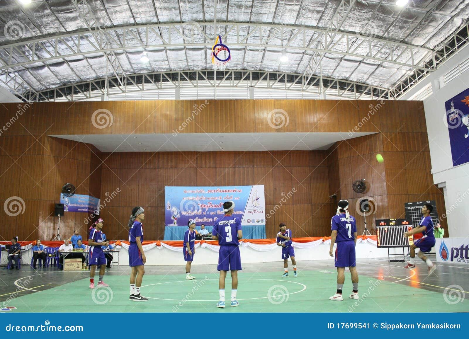 Chonburigame obręcza takraw Thailand