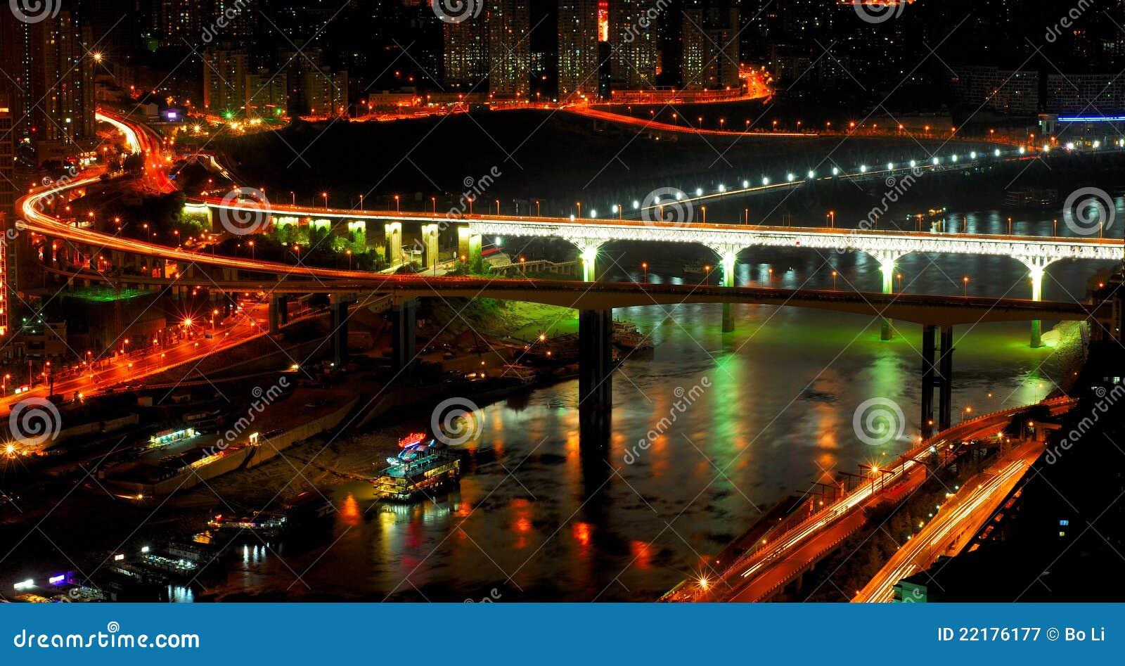 Chongqing σκηνή νύχτας