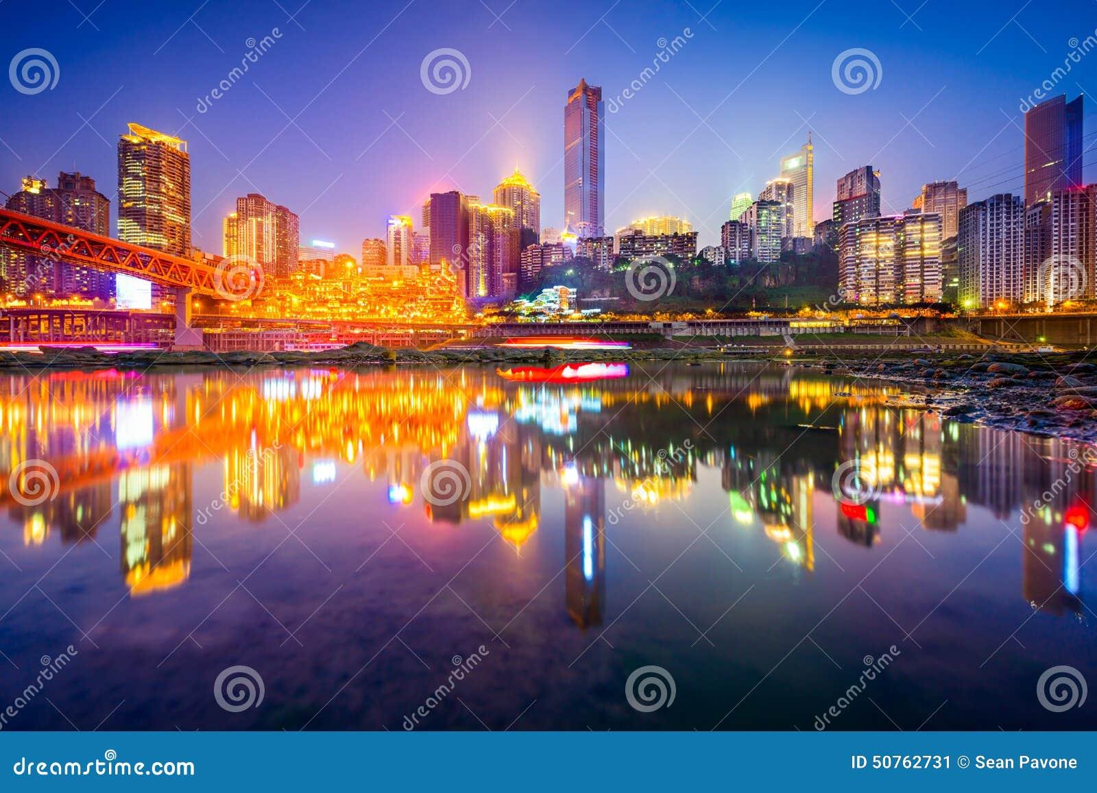 Chongqing China Skyline