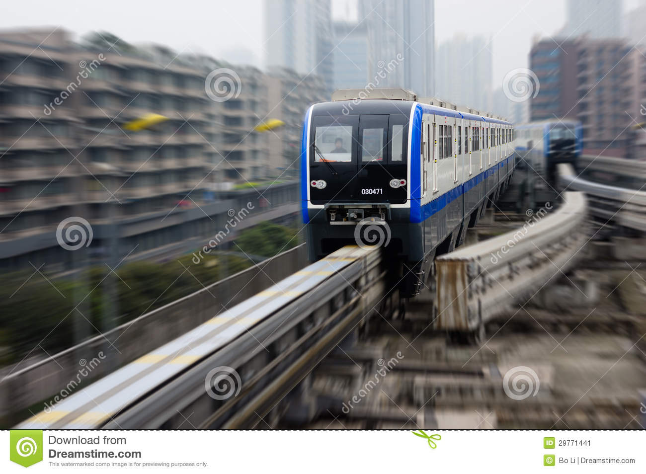 Chongqing Monorail System Editorial Photo Image 29771441