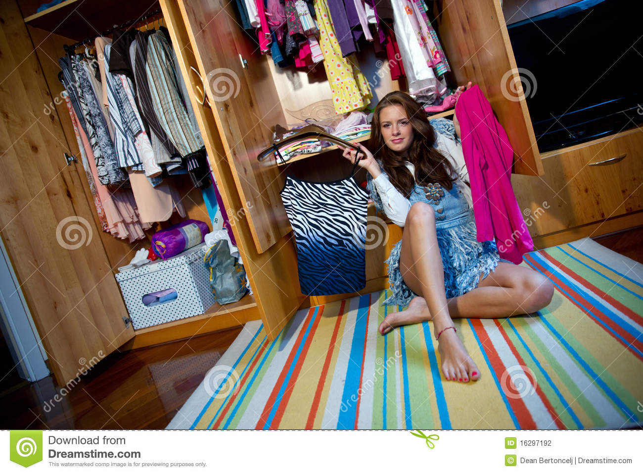 choosing clothes stock photography