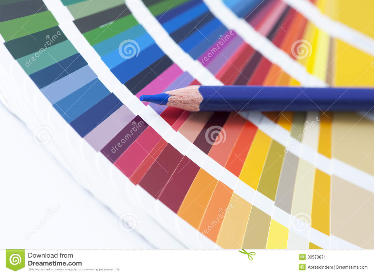 Decorator App Choosing Color From The Spectrum Stock Image Image 30573871