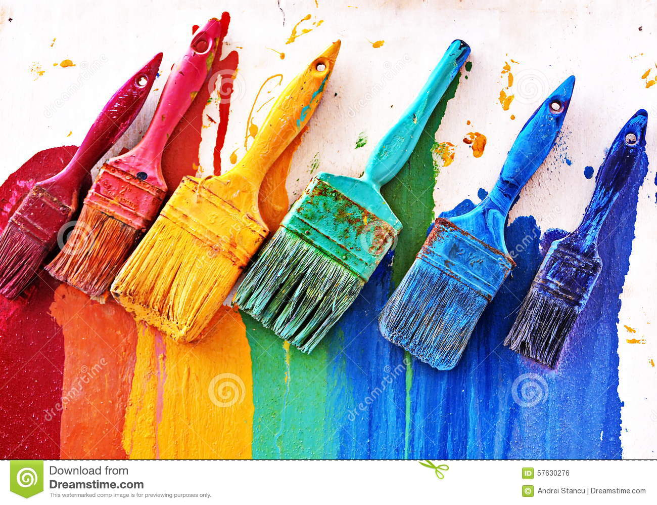 Painting Colors choosing colors stock photo - image: 57630276