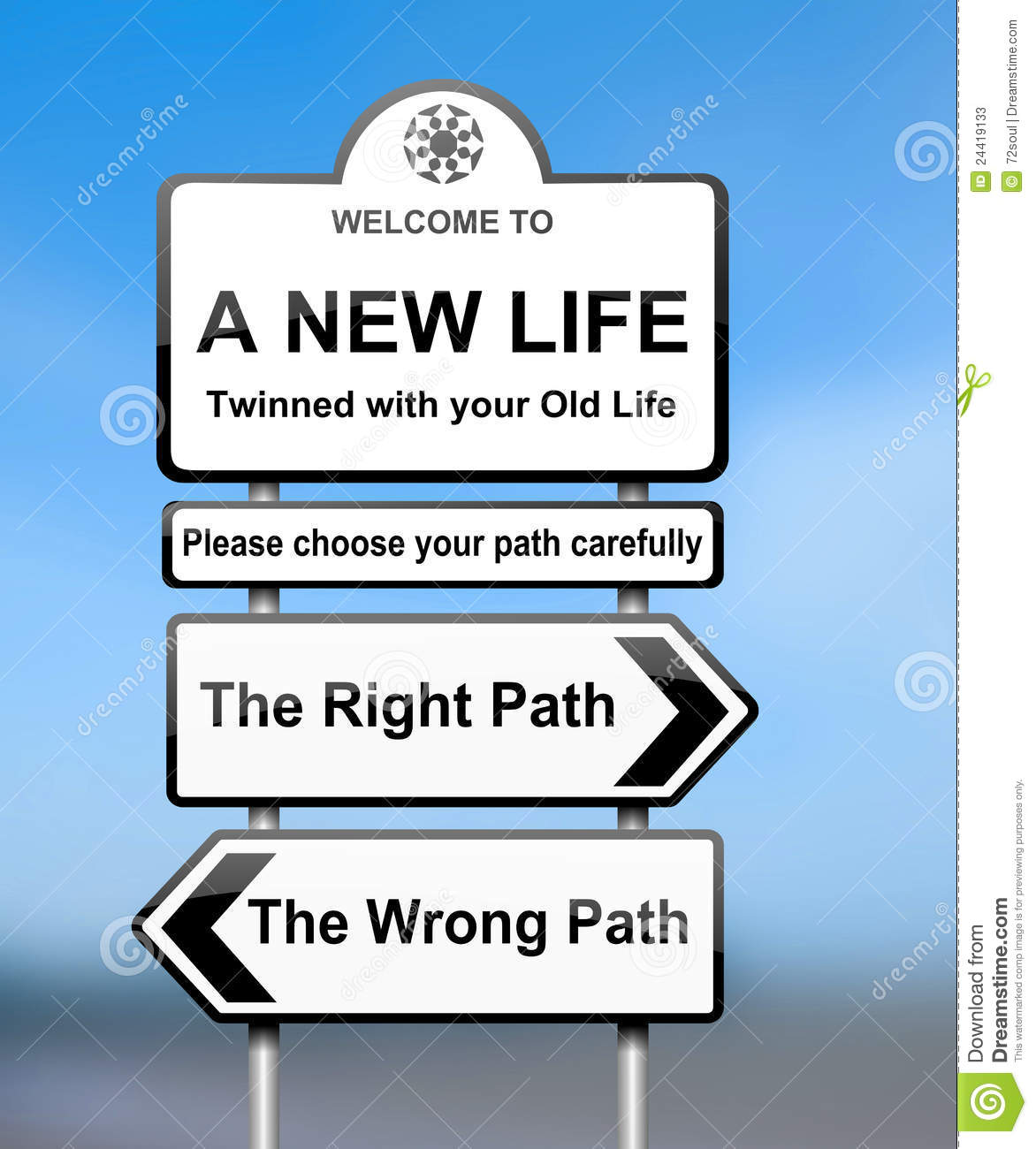 Choosing The Right Path. Stock Photos  Image: 24419133