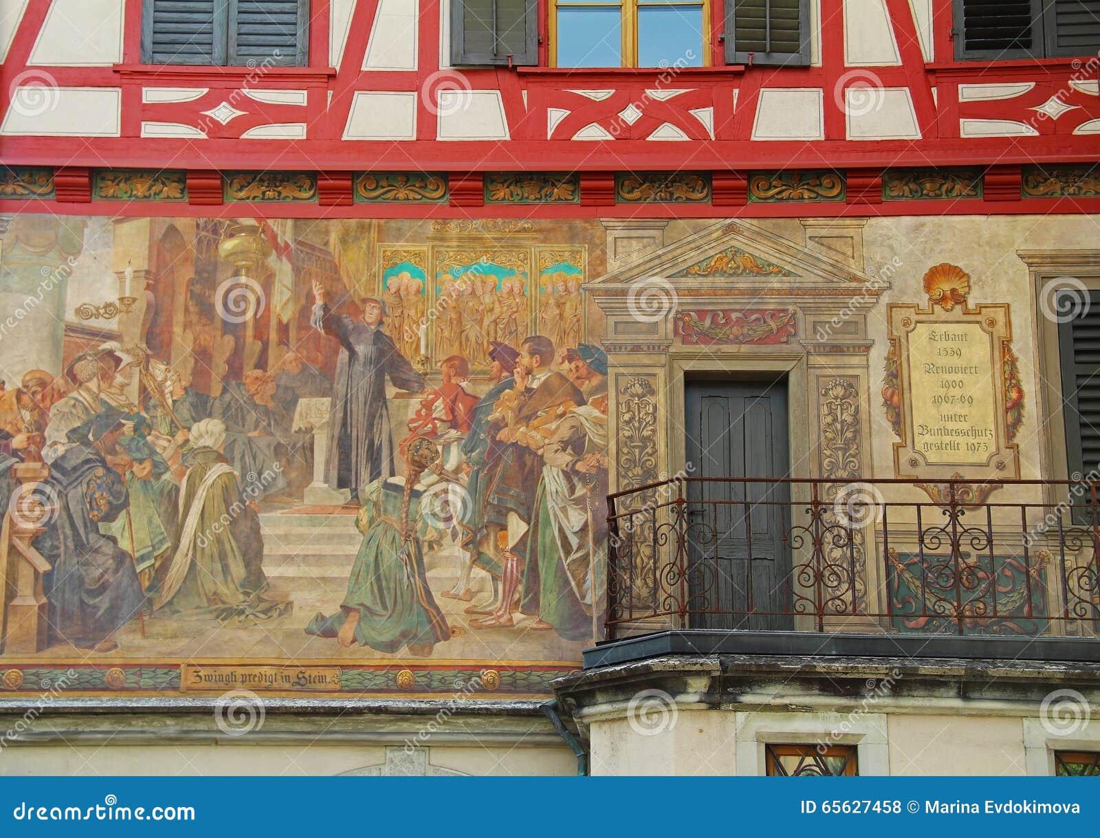 Chope en grès-être-rhein, Suisse Centre de ville médiéval