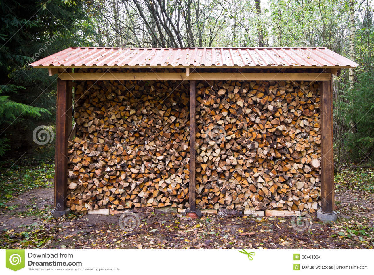 how to build a log storage barn