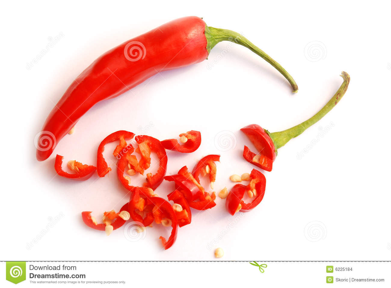 Chopped Red Hot Chilli Peppers Stock Images - Image: 6225184