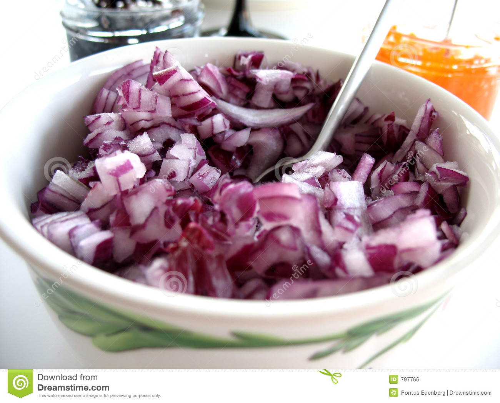 Chopped Red Onion 1 stock photo. Image of desert, dinner ...