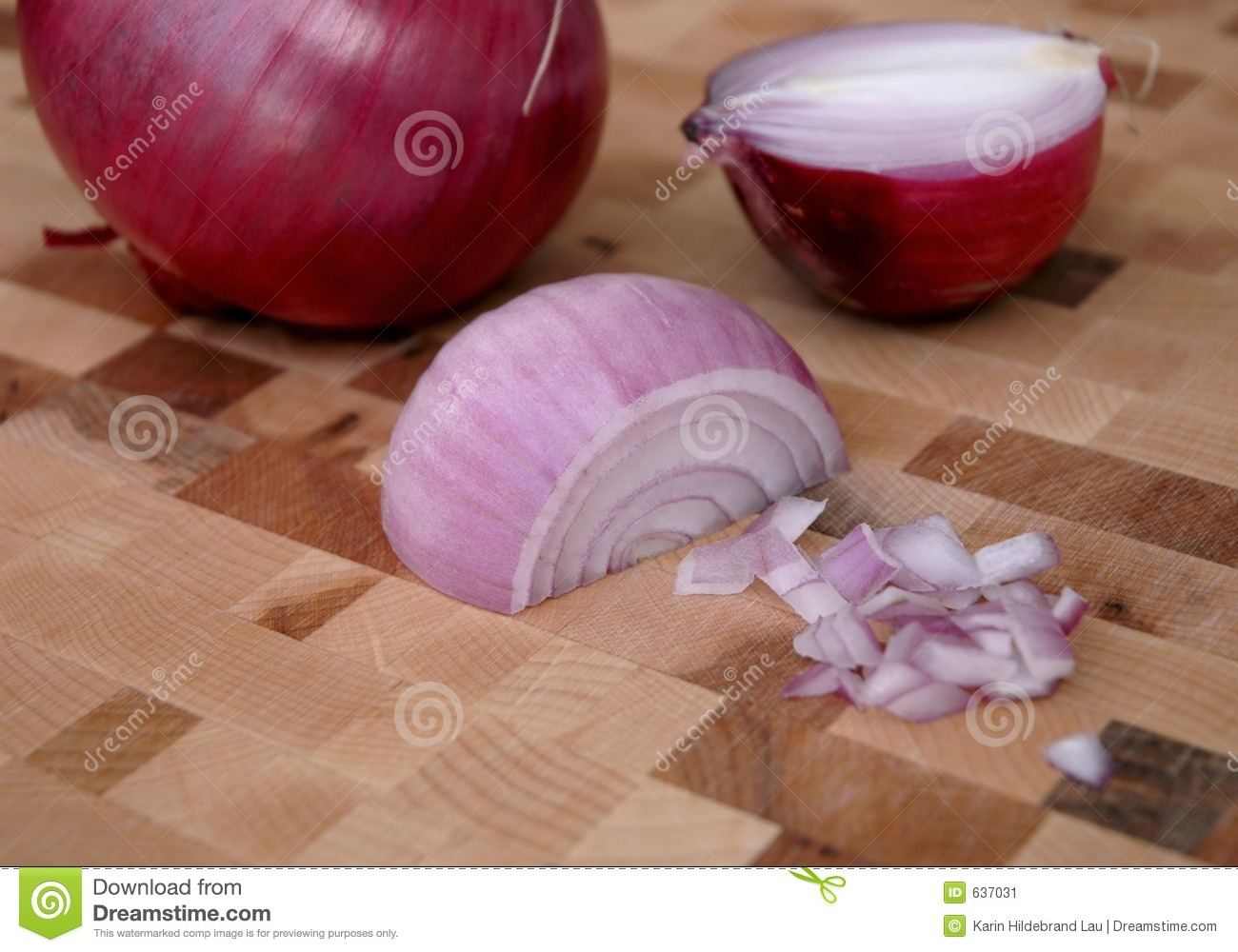 Chopped Red Onions stock image. Image of vitamin, slice ...