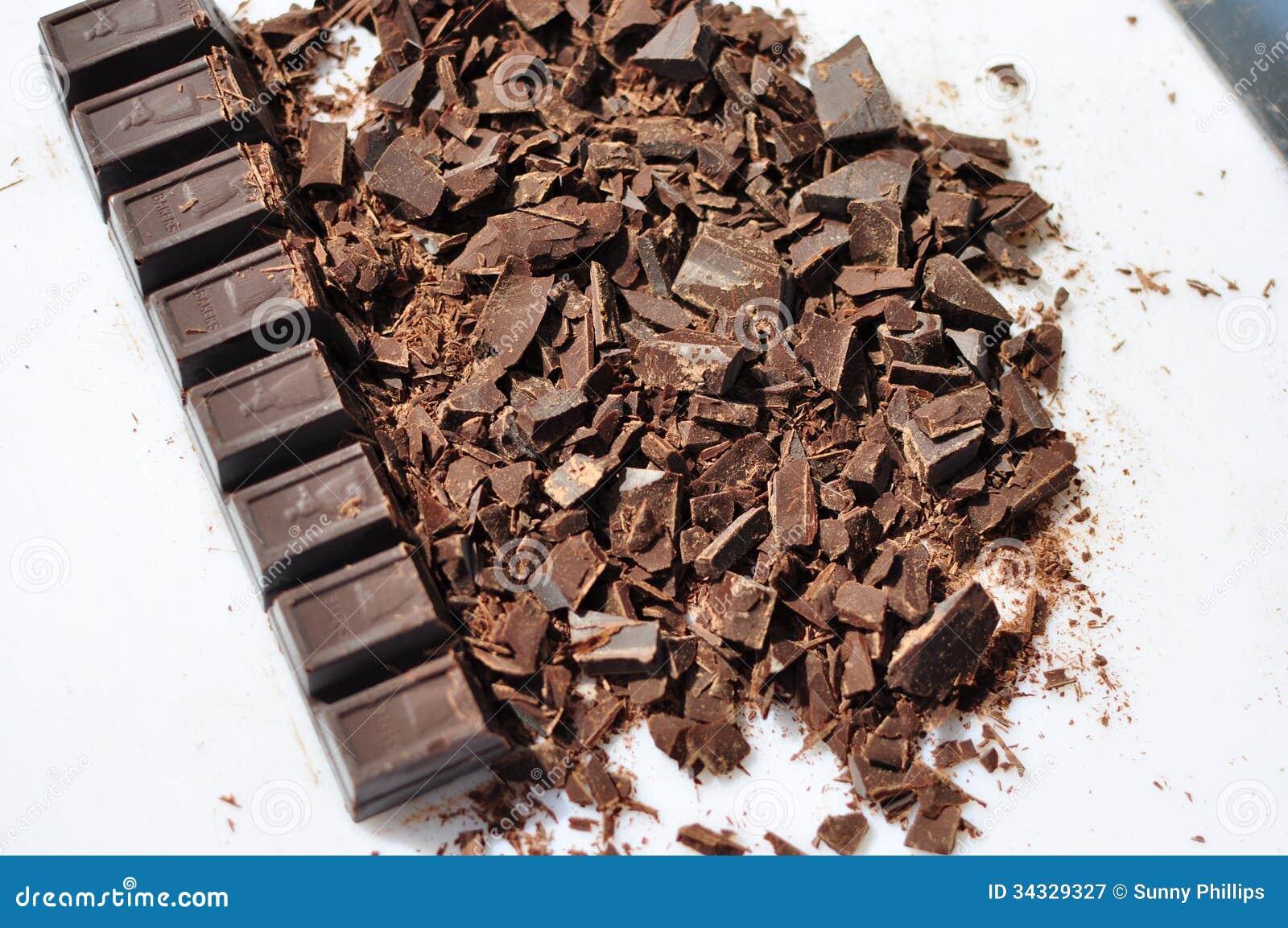 Chopped Semi Sweet Chocolate Royalty Free Stock Photography ...