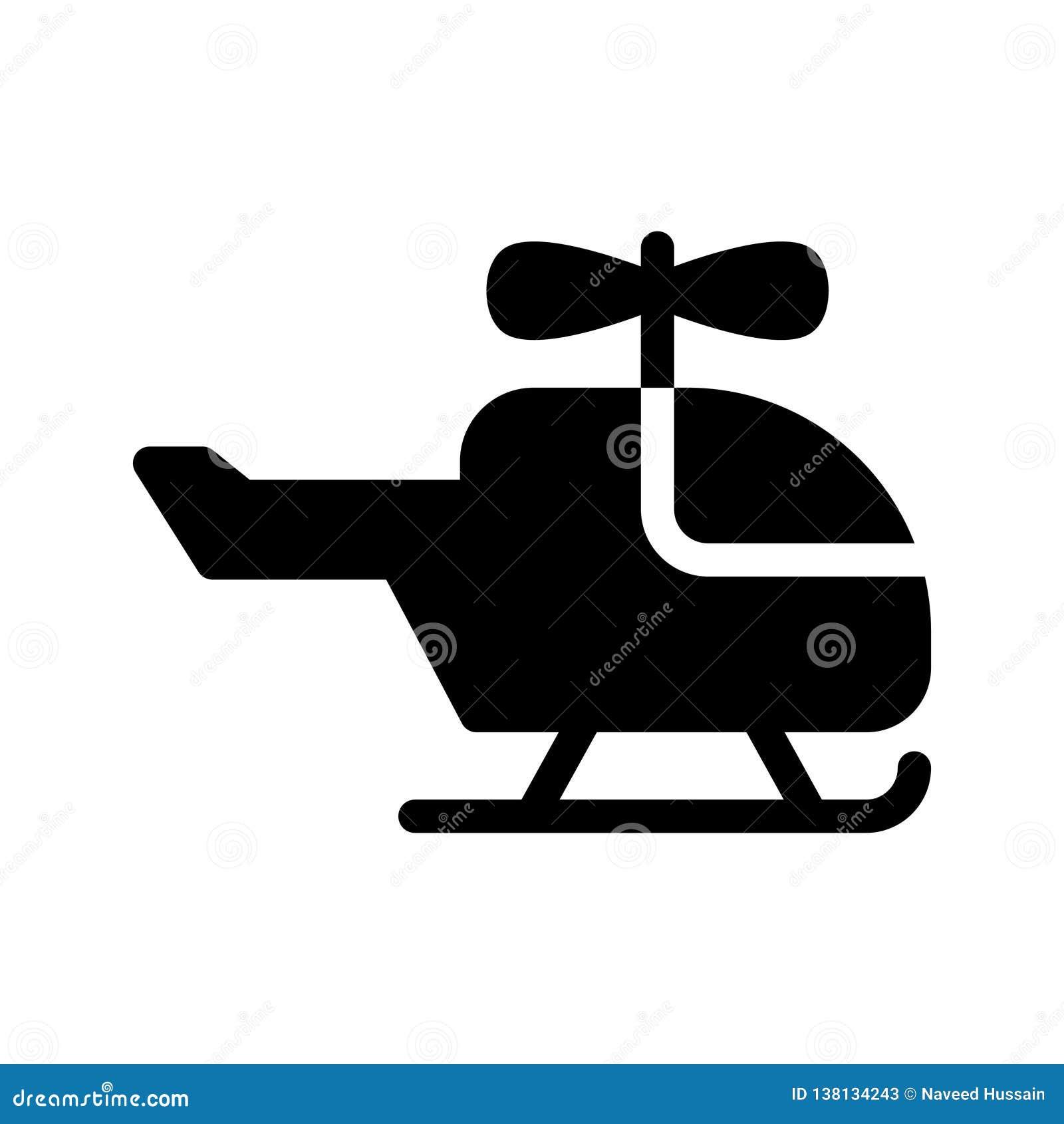 Chopper glyph vector icon