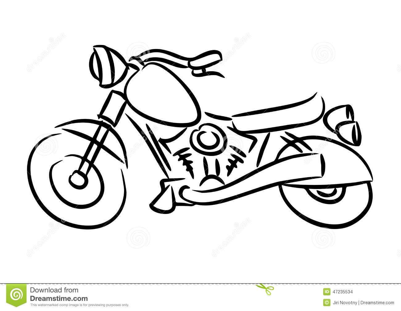 The Chopper Motorcycle Stock Illustration Illustration Of Funny