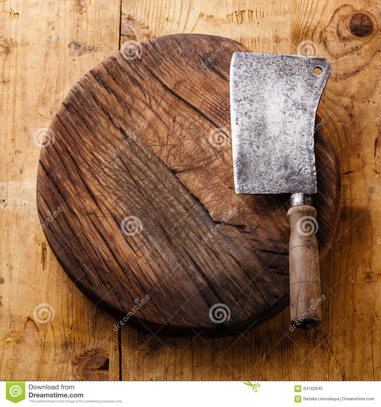 Chopping board block and Meat cleaver