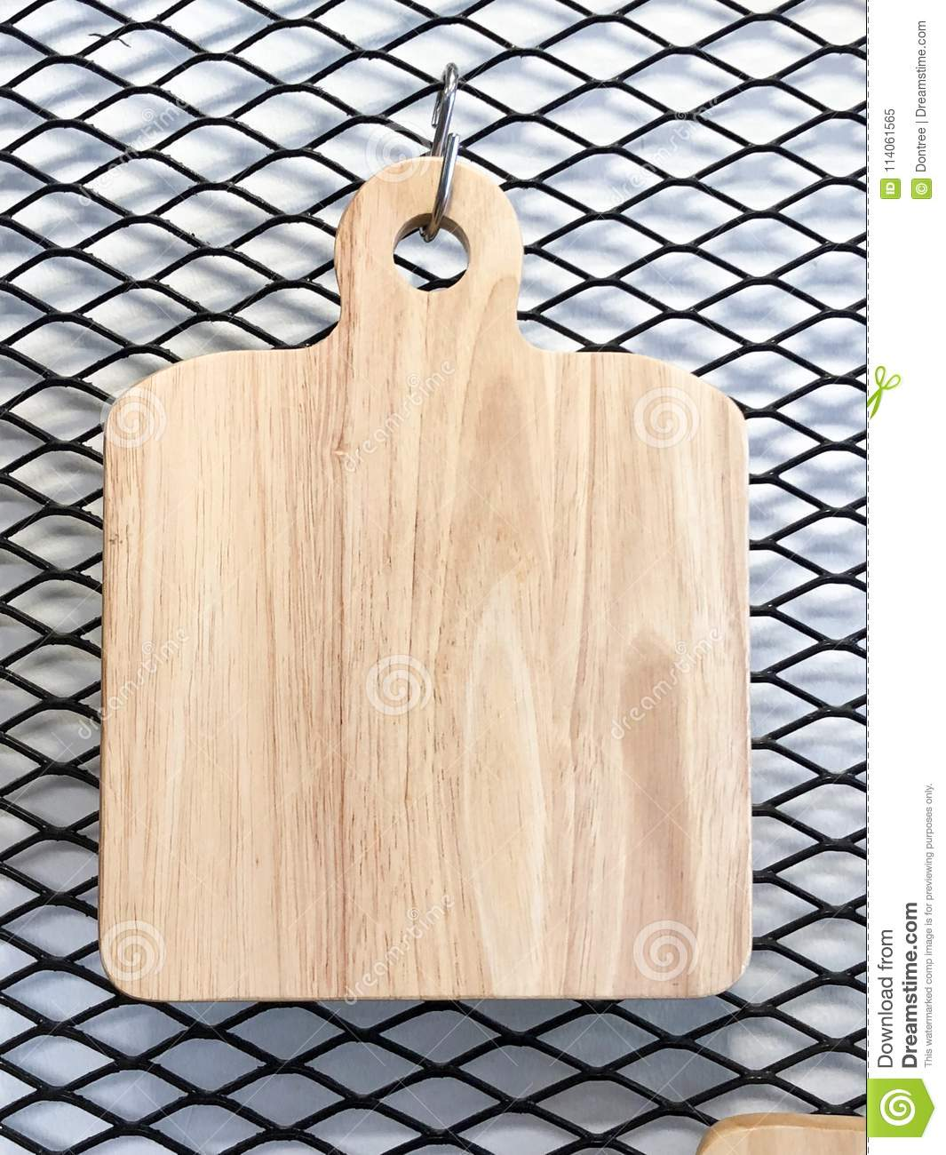 Chopping Cutting Board Hanging In Kitchen Stock Image Image Of Rural Board 114061565