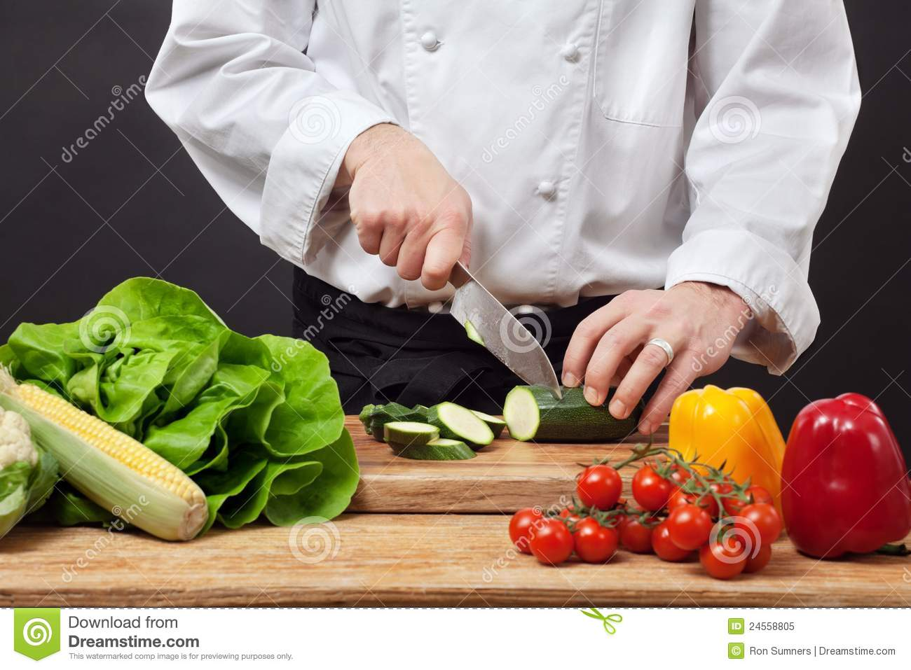 Chopping Vegetables Royalty Free Stock Photo - Image: 24558805