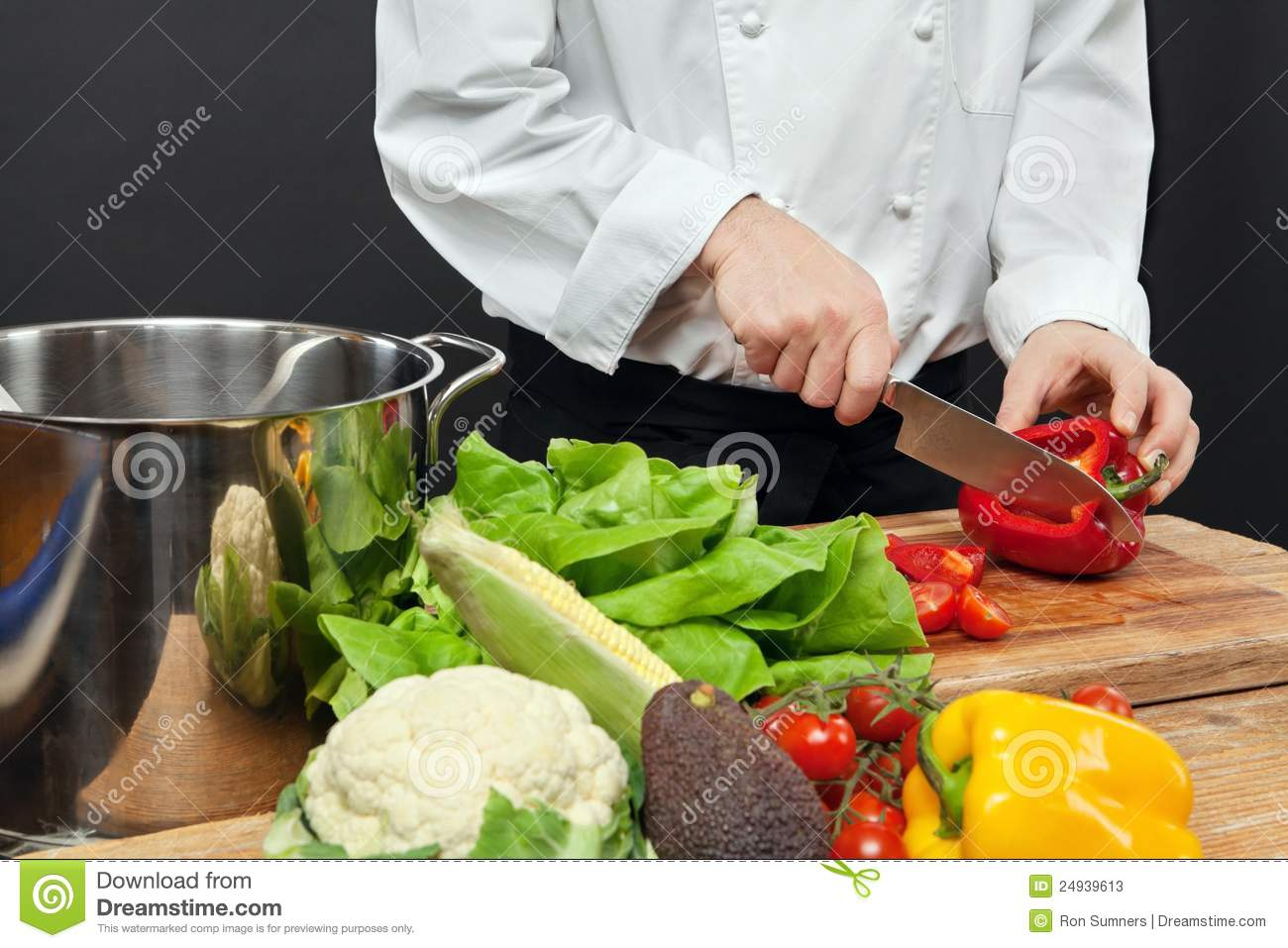 Chopping Vegetables Stock Photos - Image: 24939613