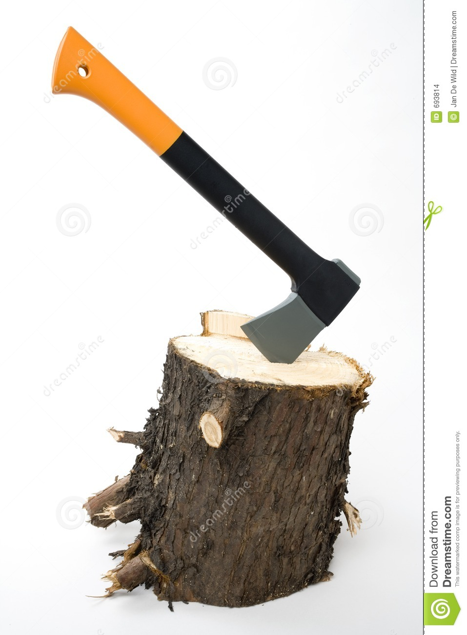 Chopping Wood Stock Photo Image Of Block Background Stuck 693814
