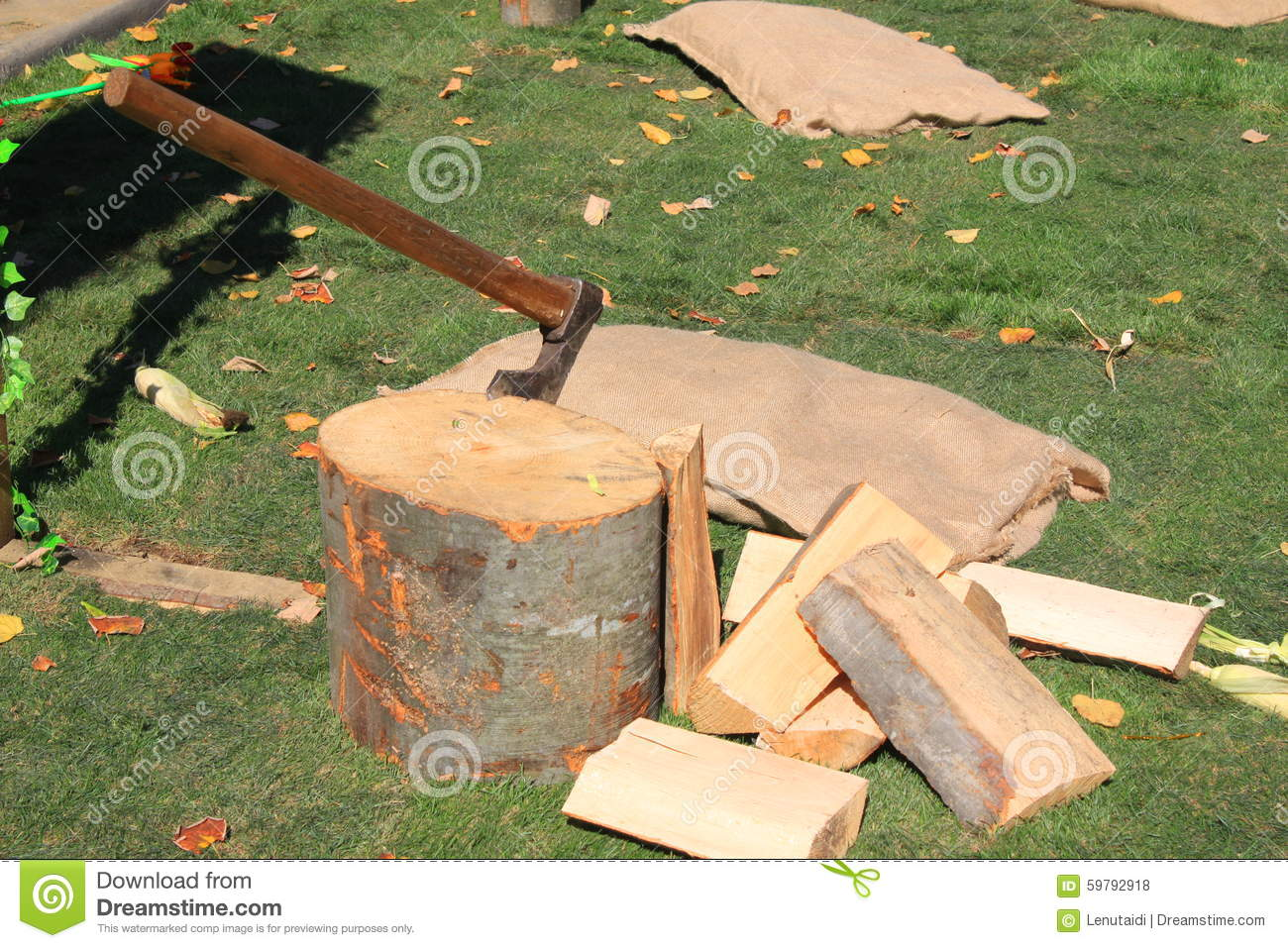 how to make a chopping block for splitting wood