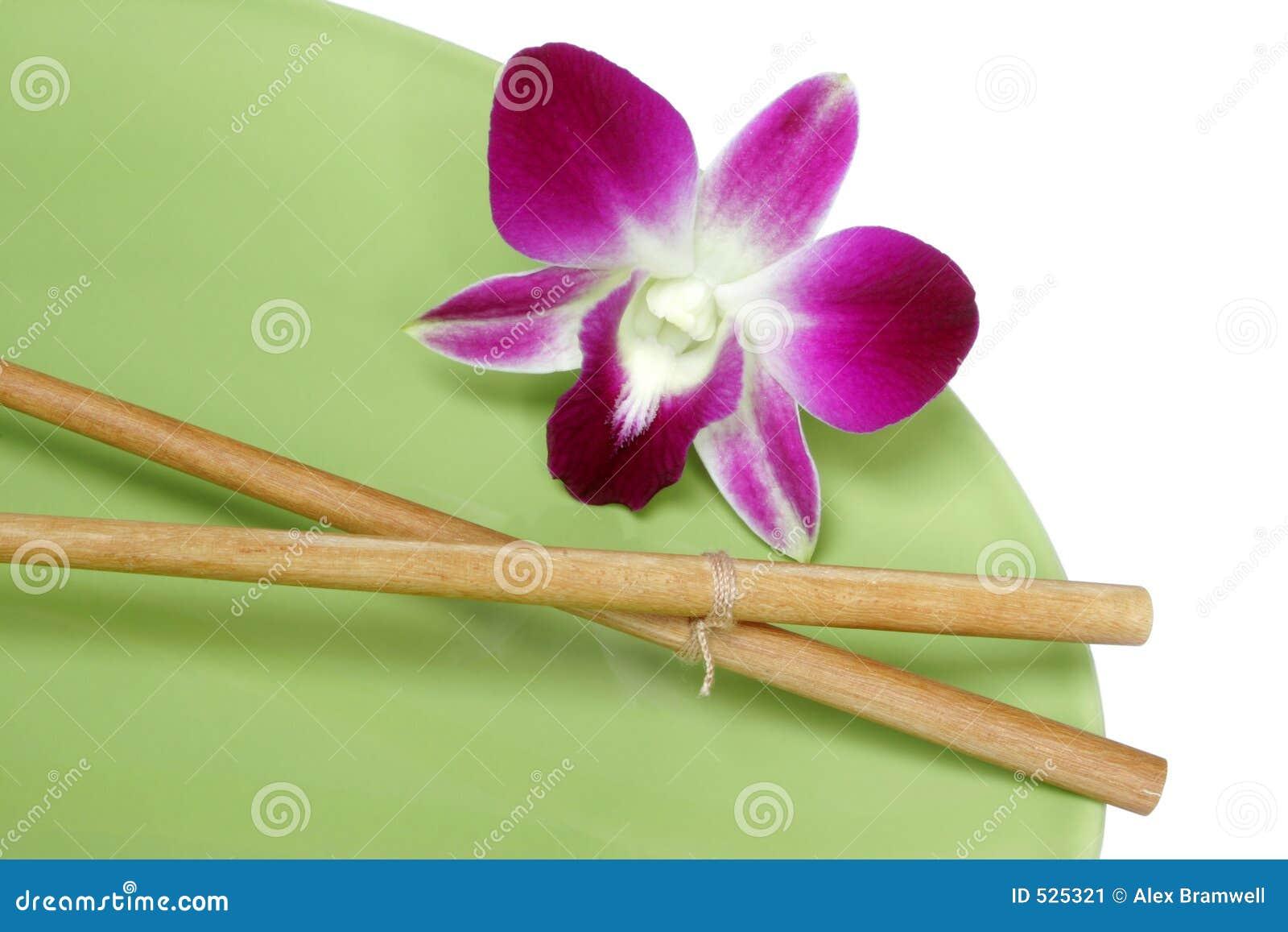 Chopsticks orchid πιάτο