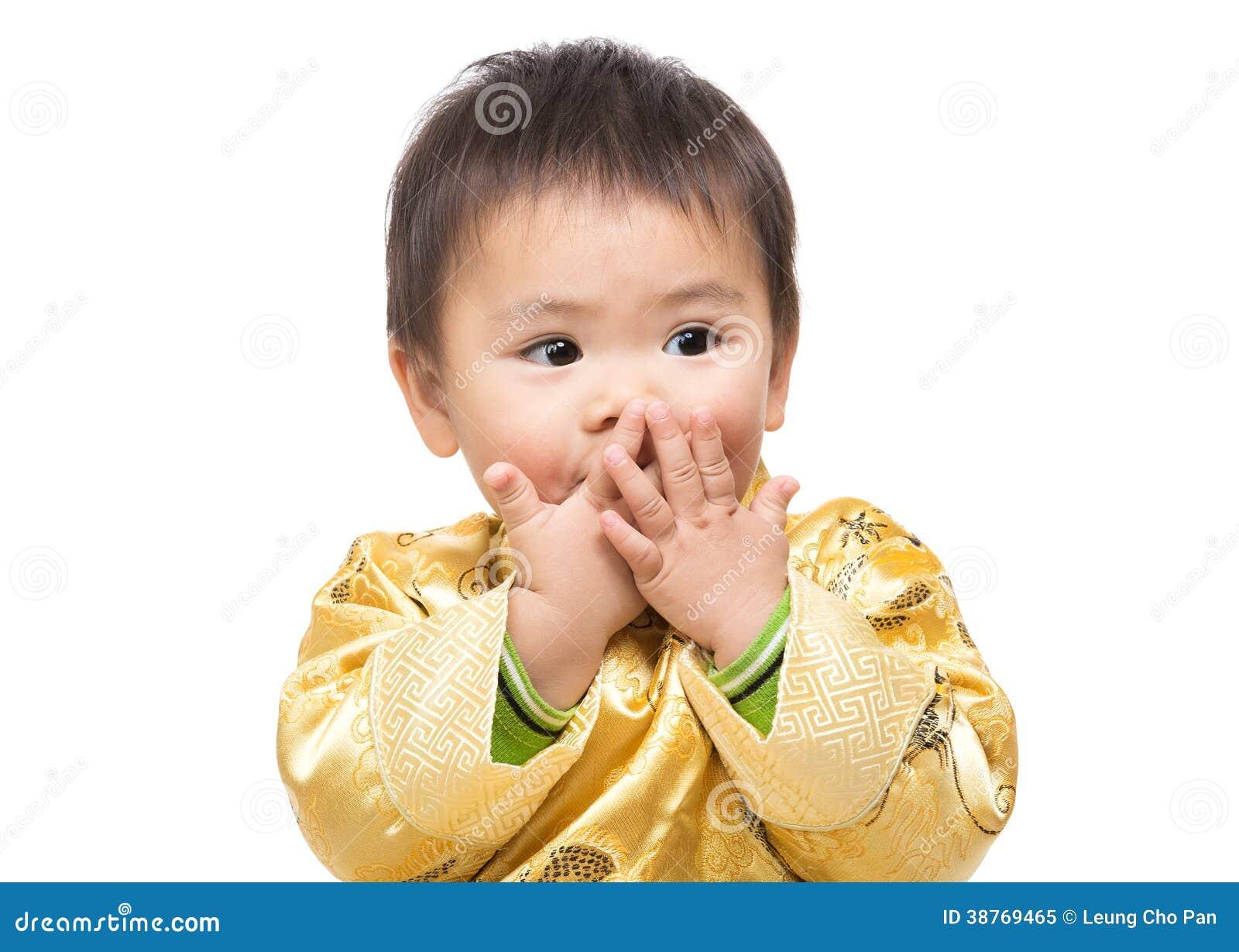 Choquer chinois de sensation de bébé garçon