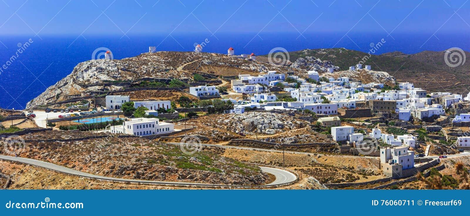 Chora村庄阿莫尔戈斯岛海岛全景  希腊, Cyclade