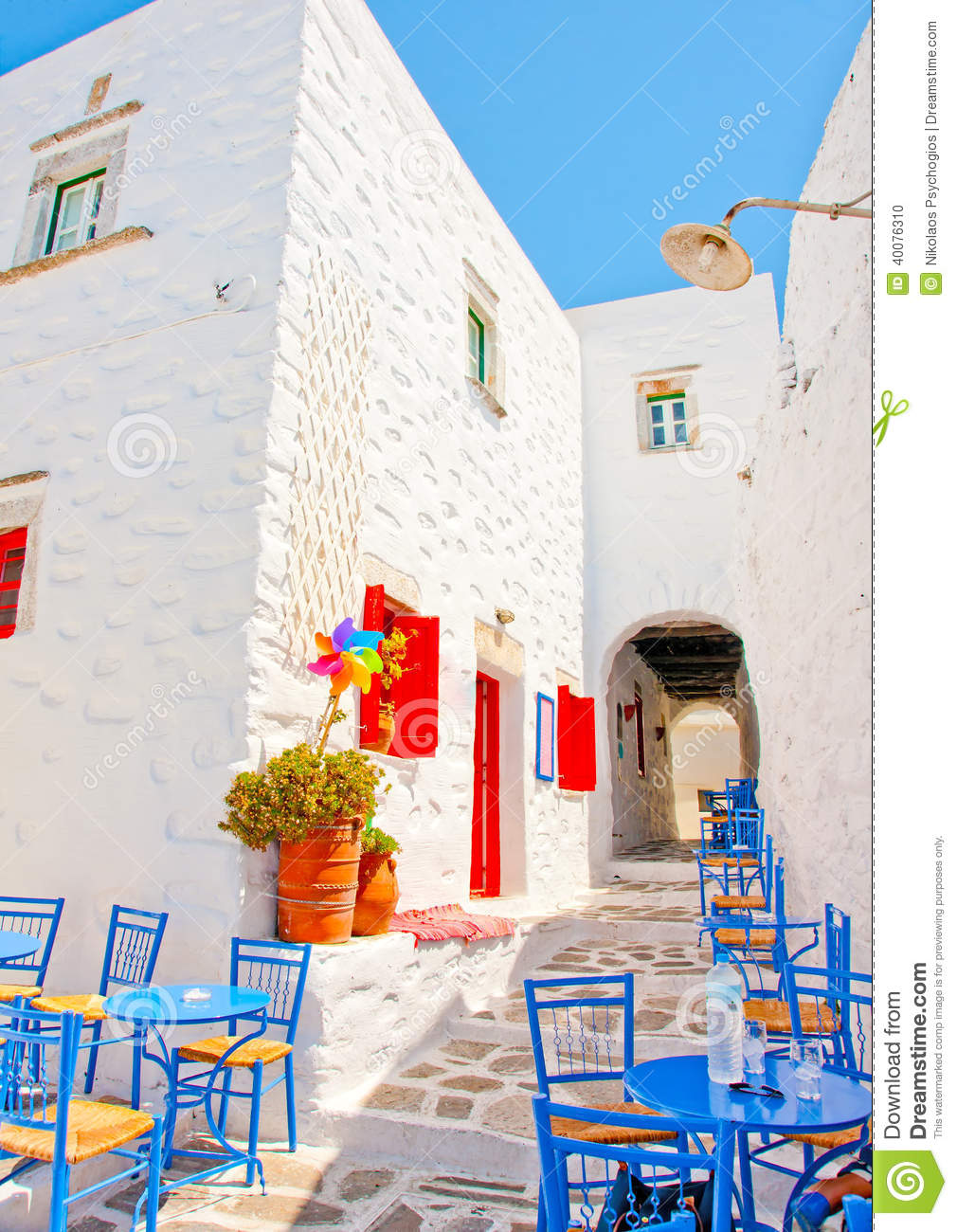 Old beautiful traditional house in chora the capital of amorgos island - Chora Of Amorgos Stock Photo Amorgos Beautiful Blue Coffee Greece Iron Island Old Road Traditional