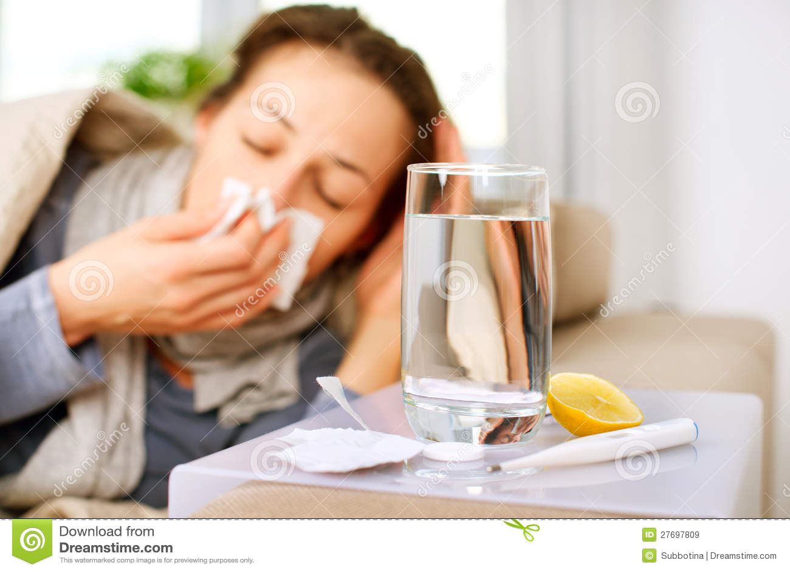 Chora Kobieta. Grypa