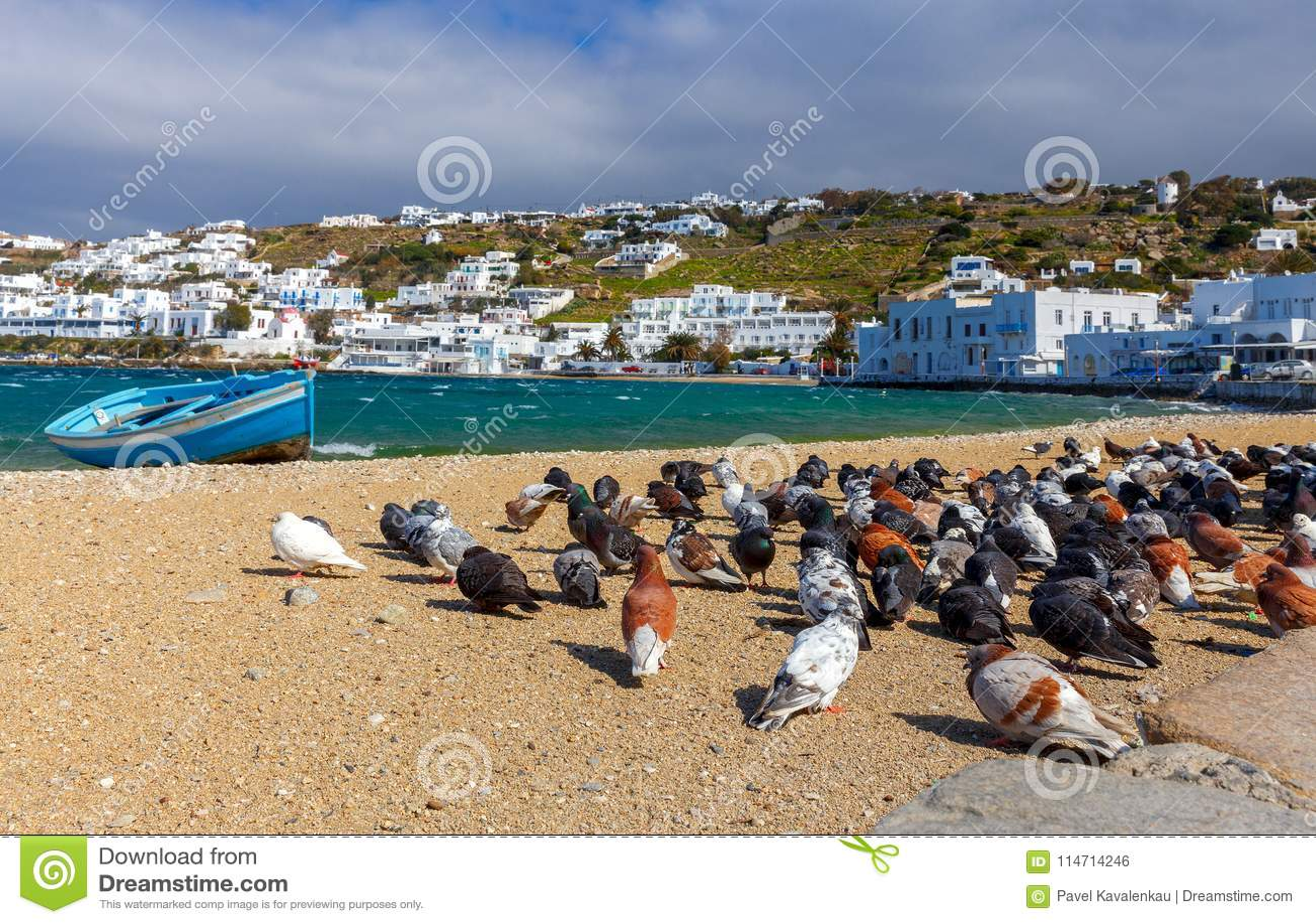 Chora Mykonos Пляж города Sandy