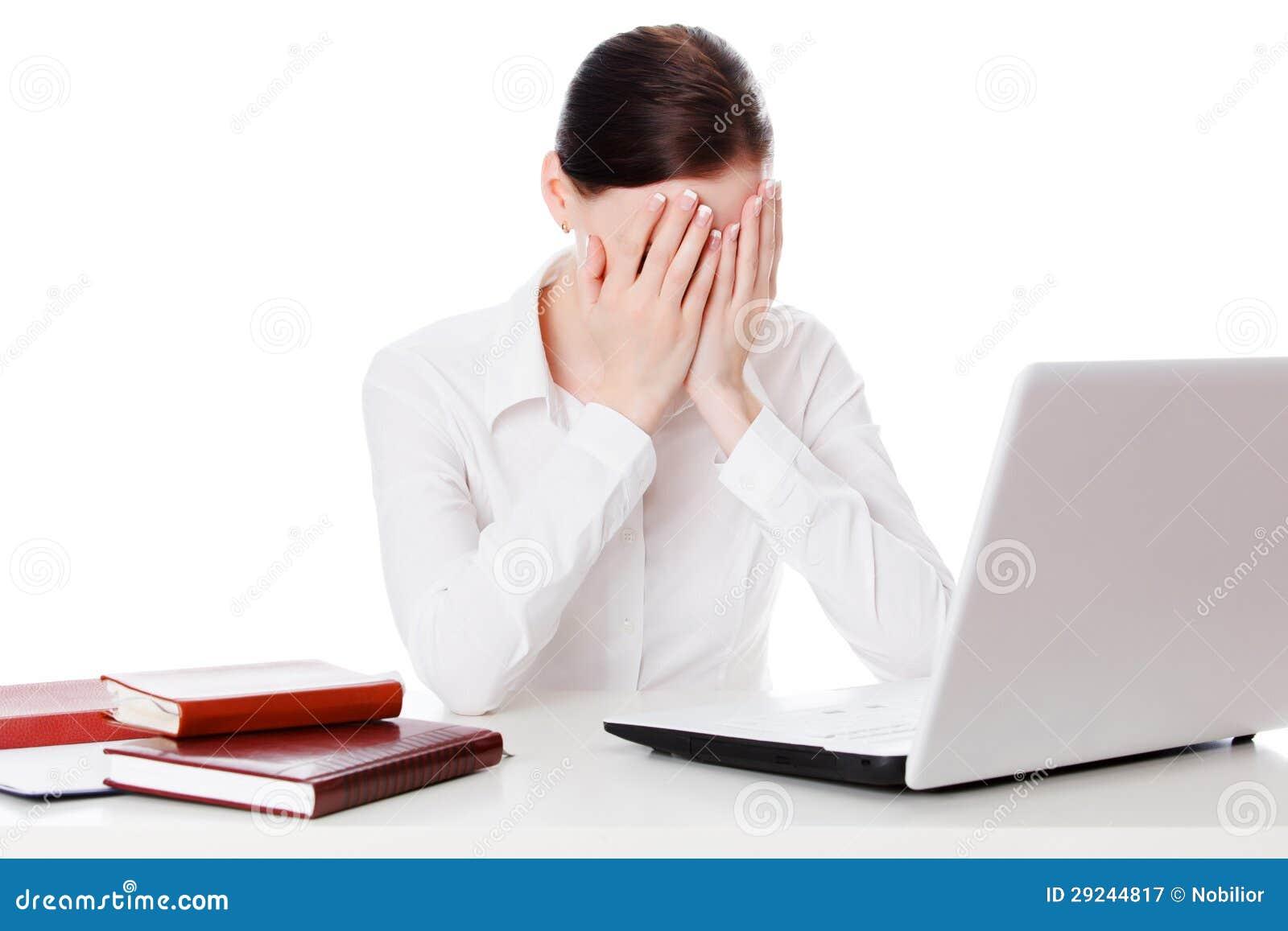 Download Chorando A Mulher De Negócios Imagem de Stock - Imagem de pessoa, isolado: 29244817
