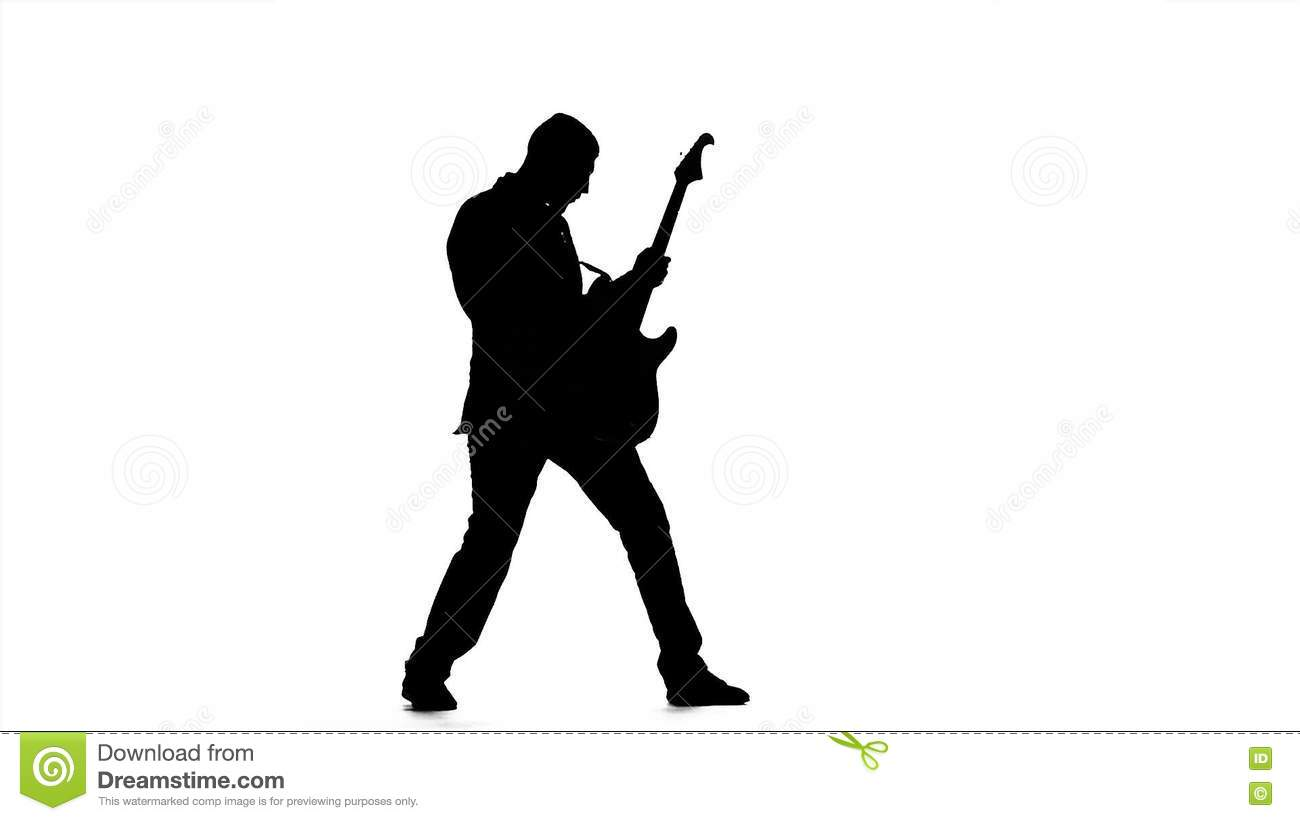 Chords On The Guitar Man In Full Growth Slow Motion Stock Video