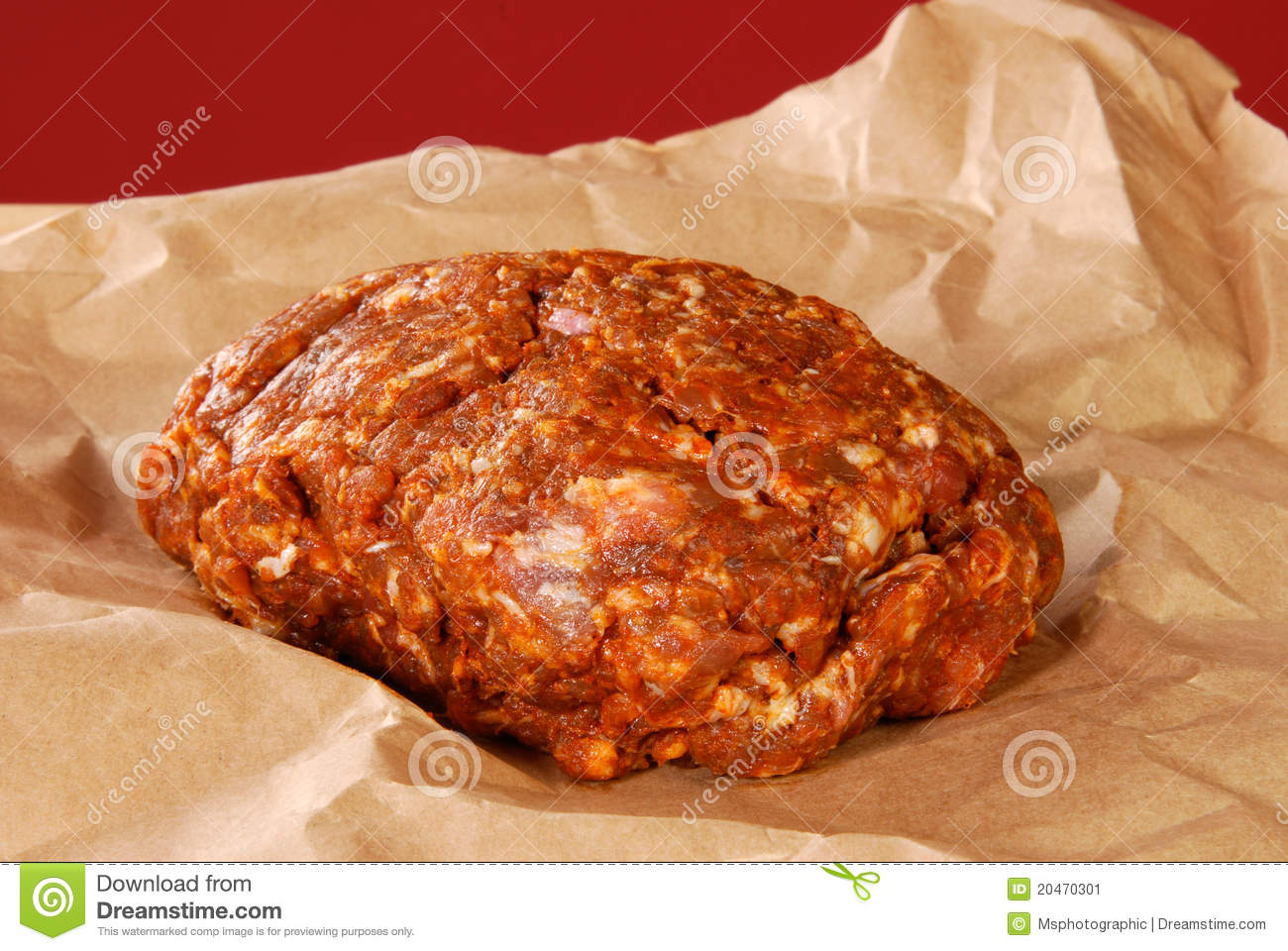 Choriso Pork Sausage Freshly Ground Stock Image - Image: 20470301