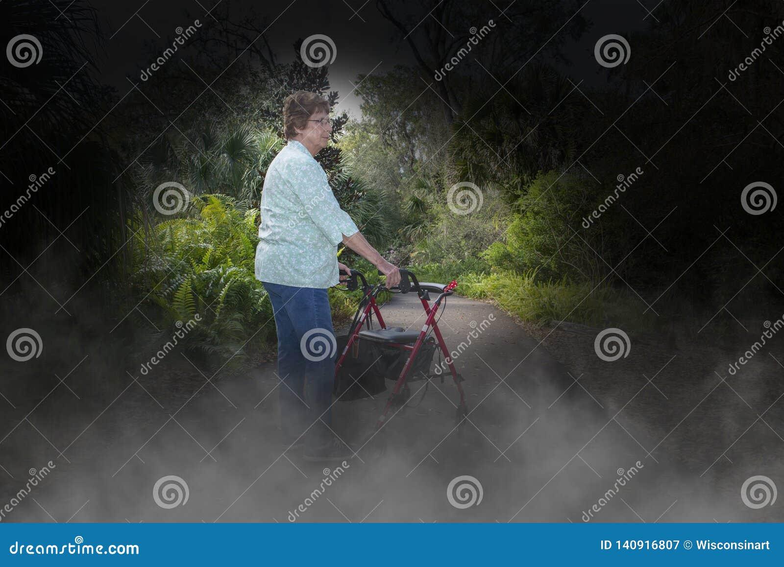 Choroba Alzhaimera, demencja, Eldery, Starsza kobieta