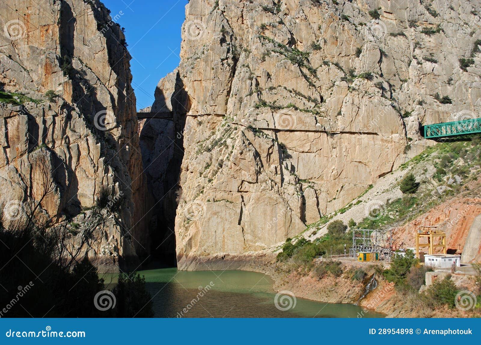 Chorro wąwóz, Andalusia, Hiszpania.