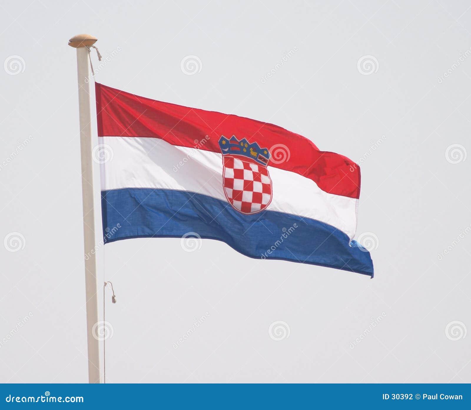 Chorwaci flagę
