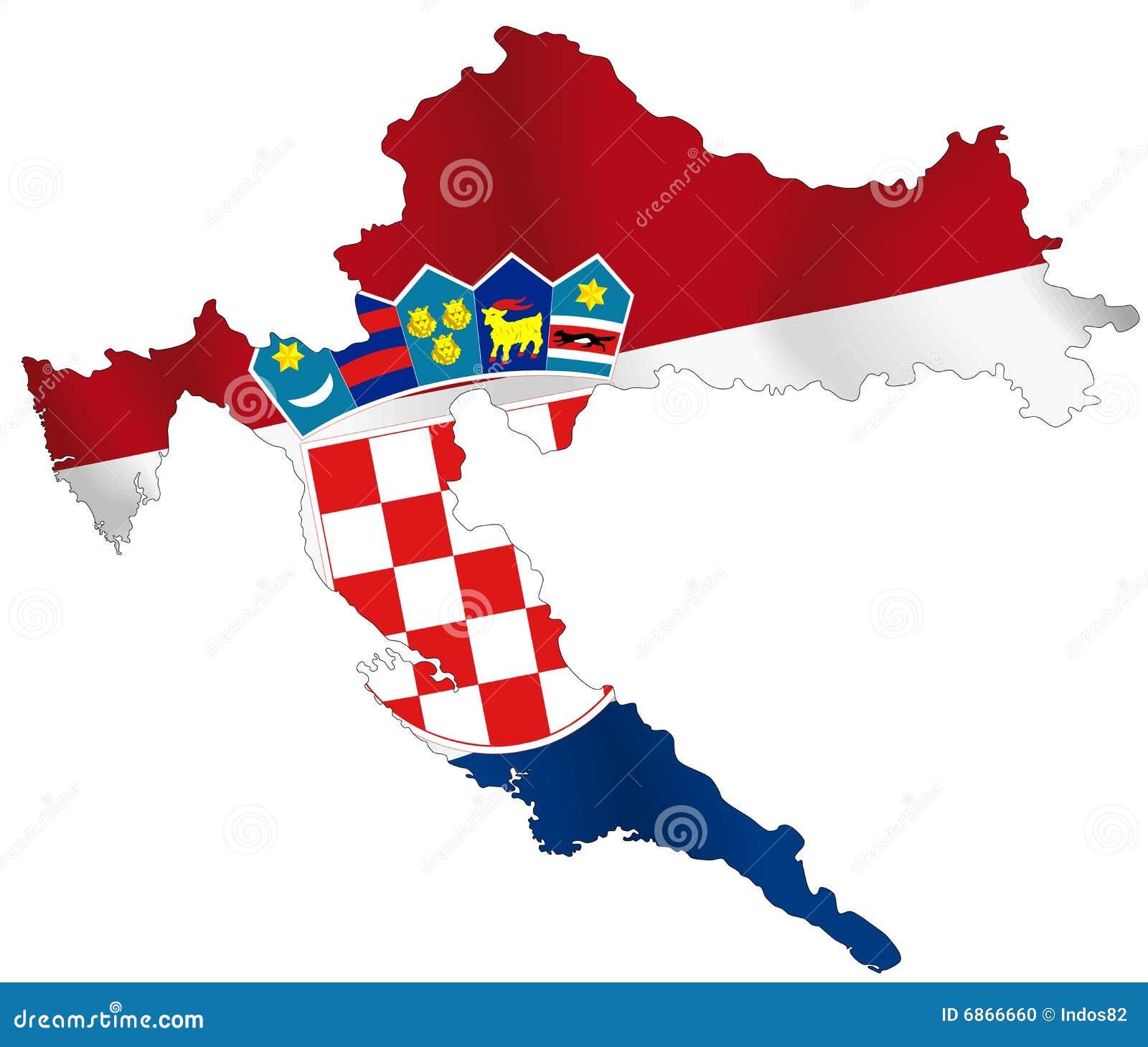 Chorwacja Ilustracja Wektor Ilustracja Zlozonej Z Ikona 6866660