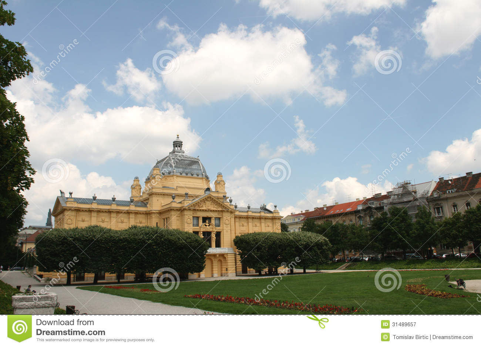Chorwacja UE członek, Zagreb, sztuka pawilon/