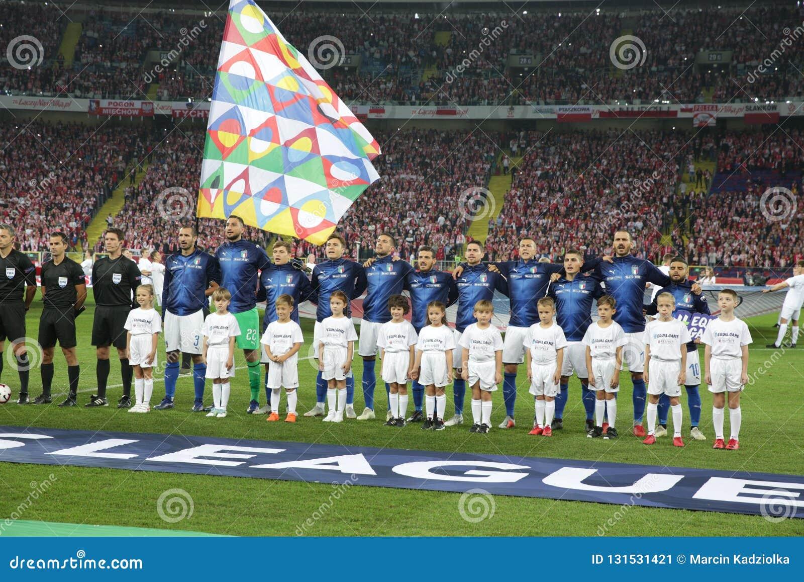 ¿Cuánto mide Alessandro Florenzi? - Real height Chorzow-poland-october-uefa-nations-league-poland-italy-o-p-gianluigi-donnarumma-giorgio-chiellini-marco-veratti-jorginho-lorenzo-131531421