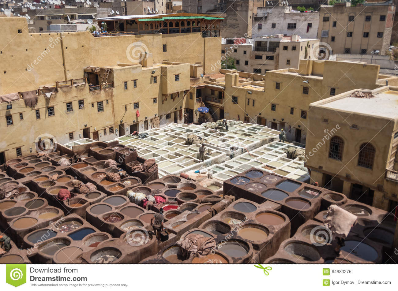 Chouwara Leather Traditional Tannery In Ancient Medina Of