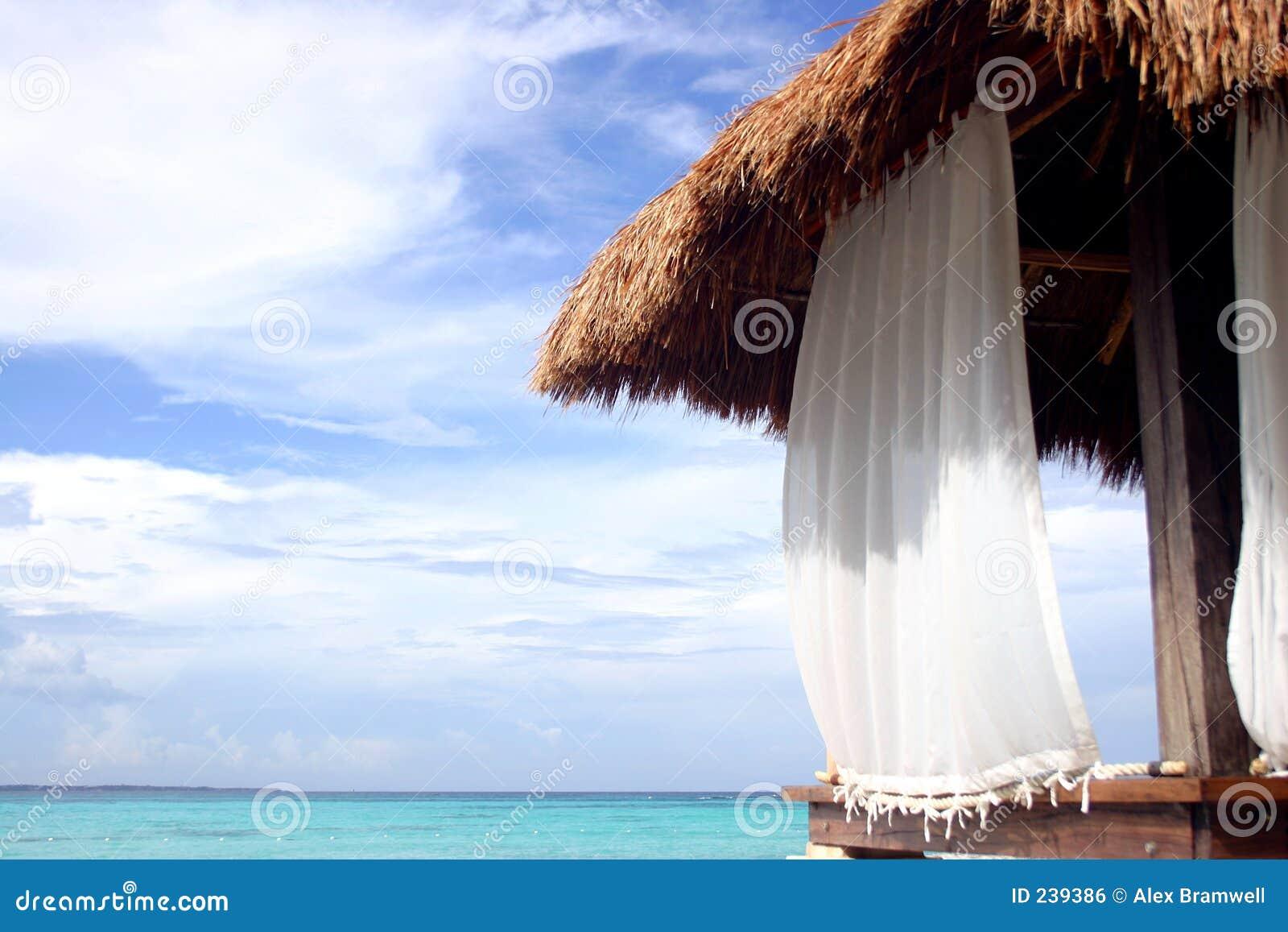 Choza de la playa